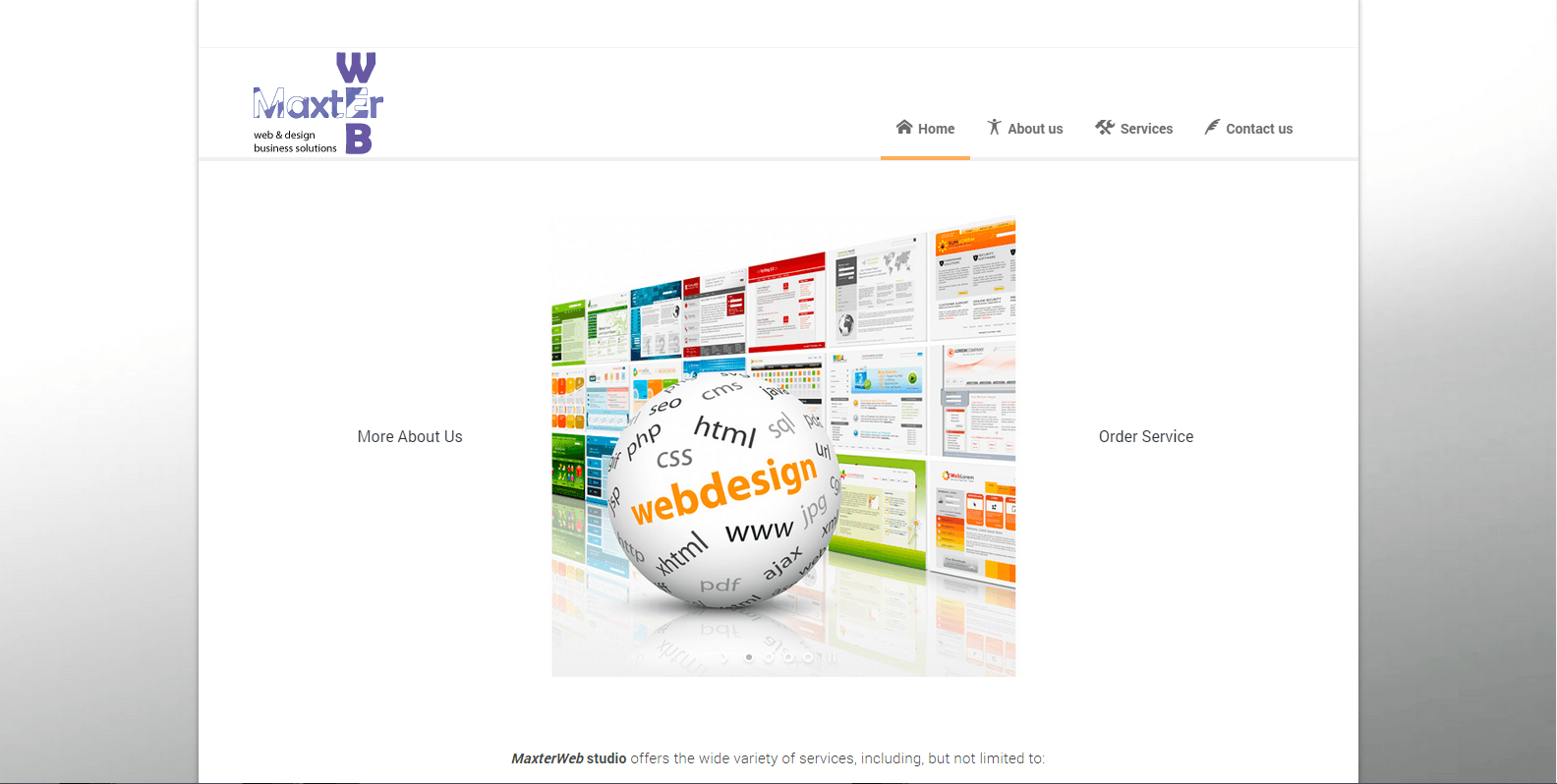 Разработка и поддержка WEB-сайта Maxterweb