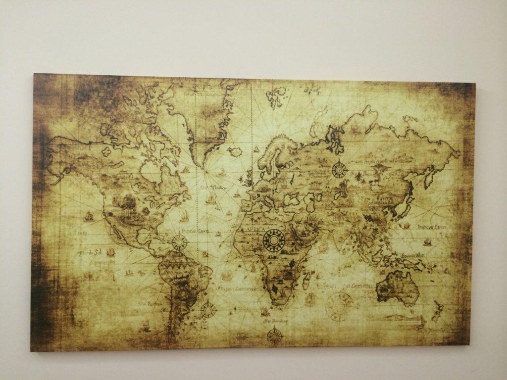 Печать карты на холсте Туристическая фирма ШАНС