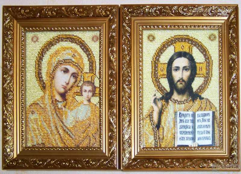 Вышивки бисером венчальные иконы 48